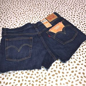 Levi's 501 Button Fly Cut-offs NWT